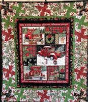 Red Truck Christmas Panel Quilt Kit