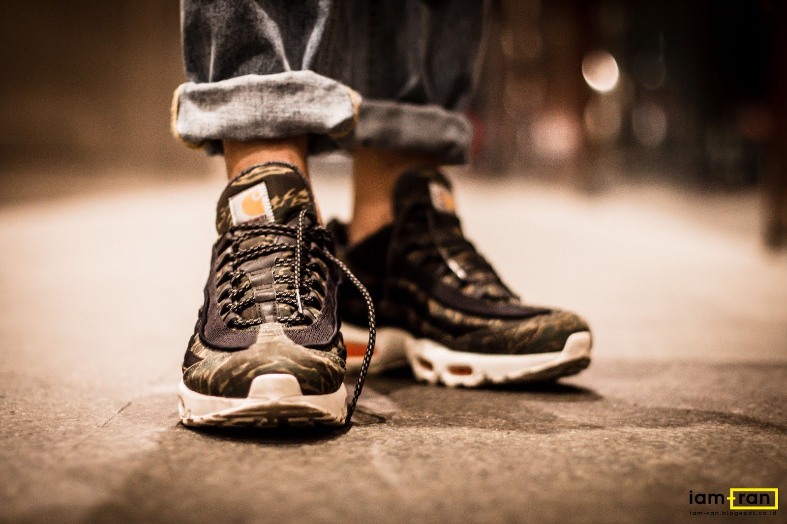 designer fashion 3b9af 3f7a8 IAM-RAN: ON FEET: Isser - Nike Air Max 95 X Carhartt
