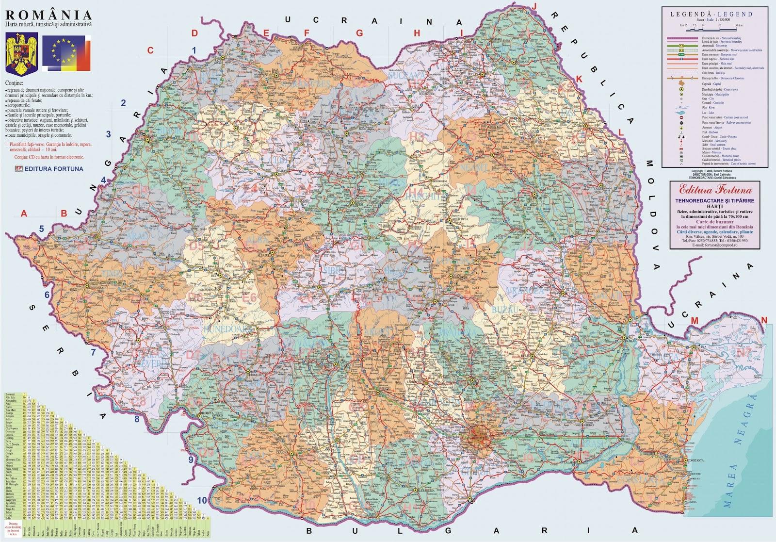 Romania Live Harta Turistica A Romaniei