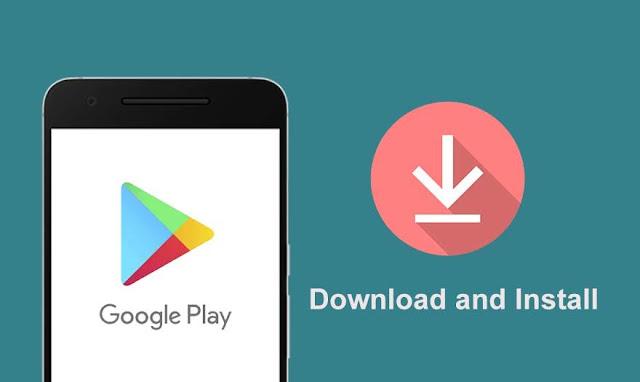 memasang widget aplikasi play store