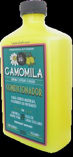 Ingredientes Condicionador de Camomila para cabelos Loiros com luzes e Mechados com óleo essencial de limão siciliano da Lola