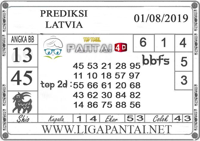 "PREDIKSI TOGEL ""LATVIA"" PANTAI4D 01 AGUSTUS 2019"