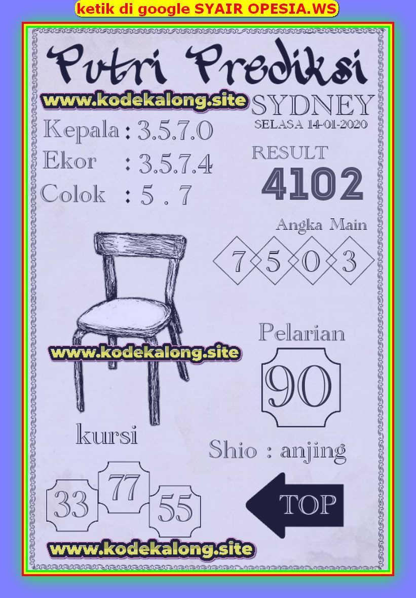 Kode syair Sydney Selasa 14 Januari 2020 133