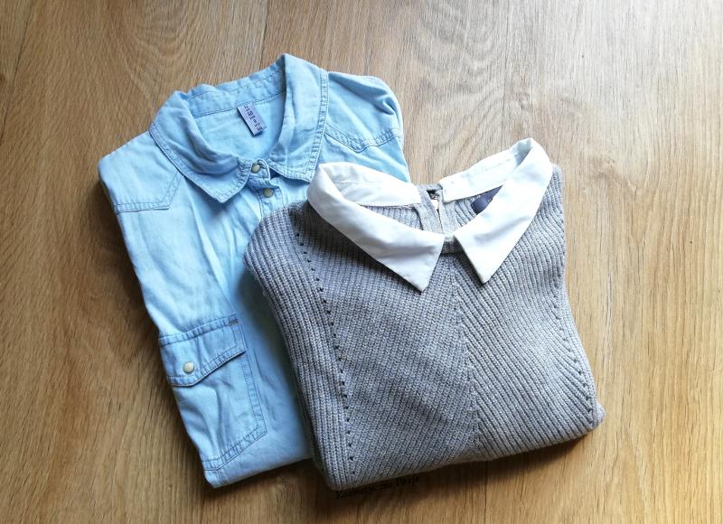 szary sweter z kołnierzykiem primark