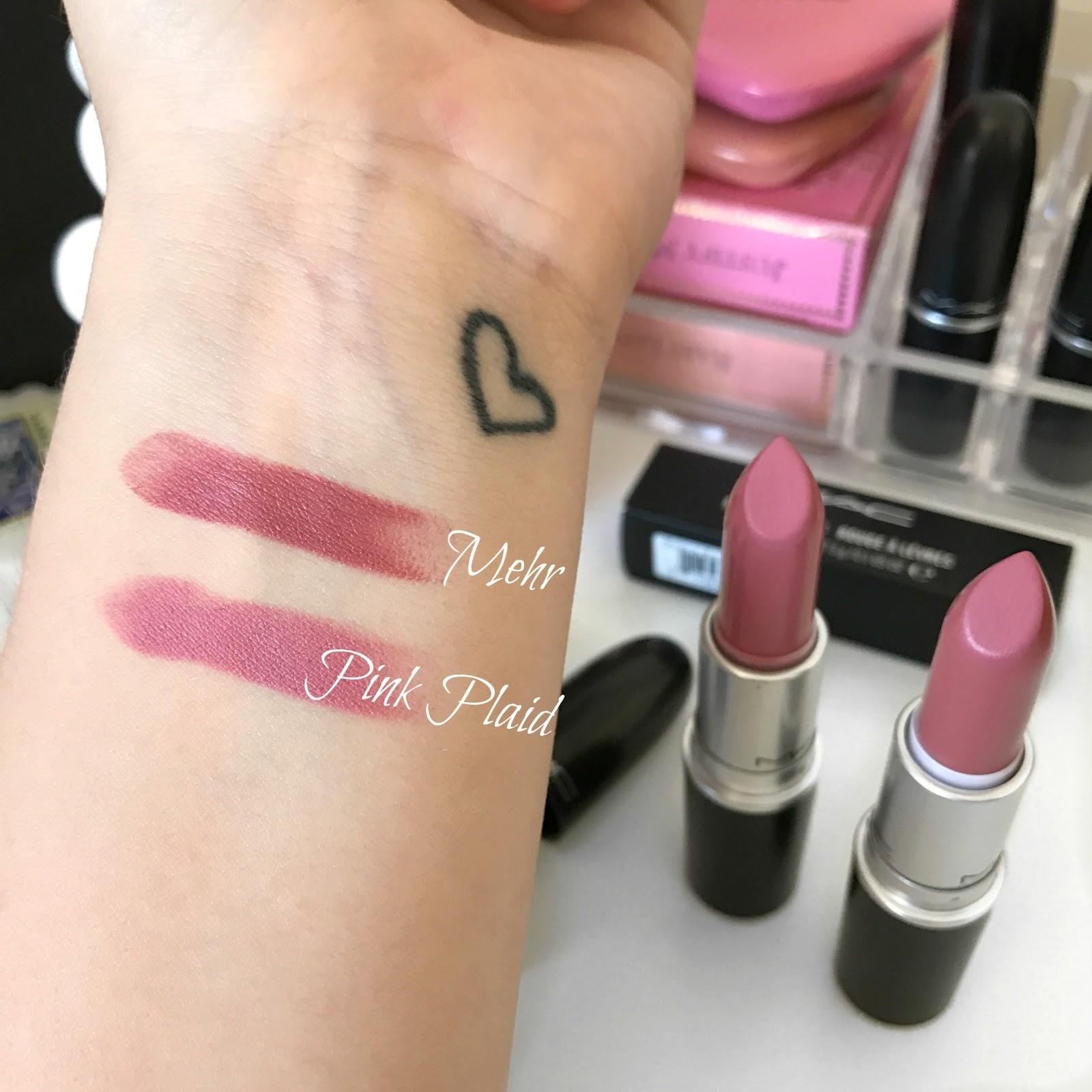 sophie jade mac lipstick newbies mehr pink plaid. Black Bedroom Furniture Sets. Home Design Ideas