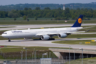 Airbus A340-600 of Lufthansa at Munich, Germany
