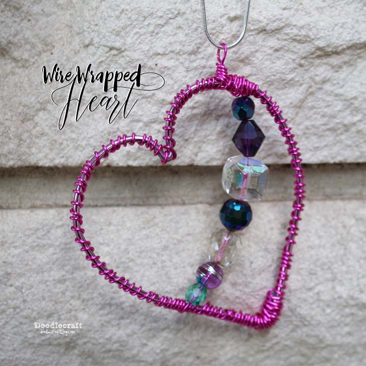 Doodlecraft: Wire Wrapped Heart Pendant!