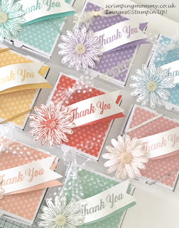 Delightful Daisy pizza boxes from Stampin' Up!