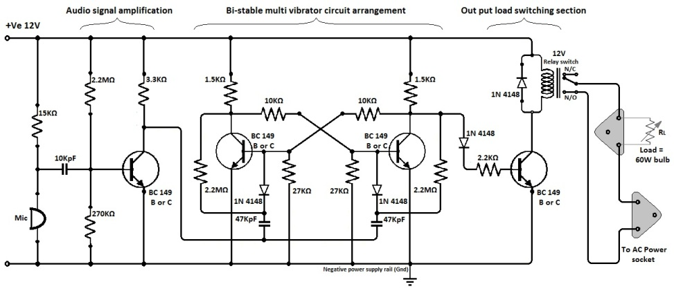 Clap Switch Circuit Double Clap Switch Circuit Homemade