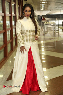 Telugu Actress Sri Reddy Mallidi Stills in White Beautiful Dress at Marriage Needs Bridal Fashion Week 2017 Logo Launch  0032.JPG