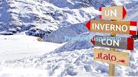 Logo Concorso ''Un inverno con Italo'': vinci 91 voucher Italo da 10€ e soggiorno a Courmayeur, Venezia e Napoli