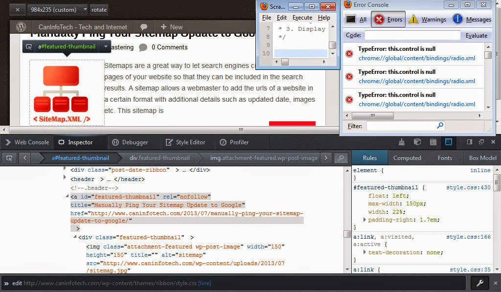 Firefox Developer Tools at a Glance