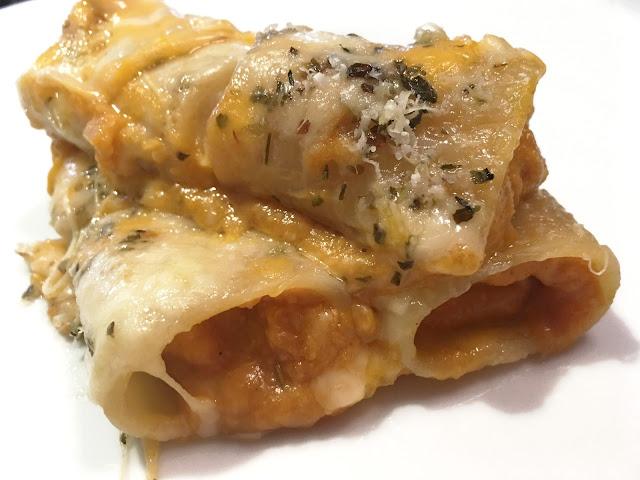 receta pasta calabaza vegetariana