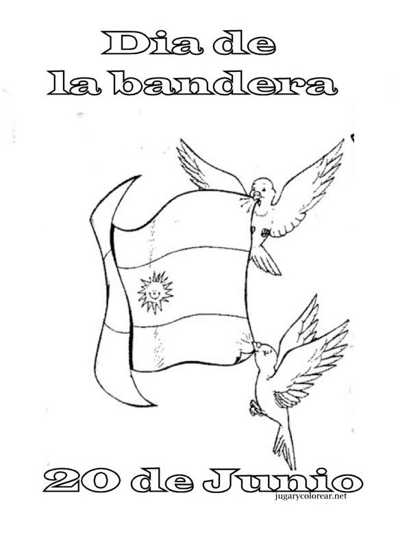 Colorear Belgrano Dia De La Bandera Argentina Jugar Y Colorear