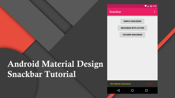 Android Material Design Snackbar Example - Ask Android Example