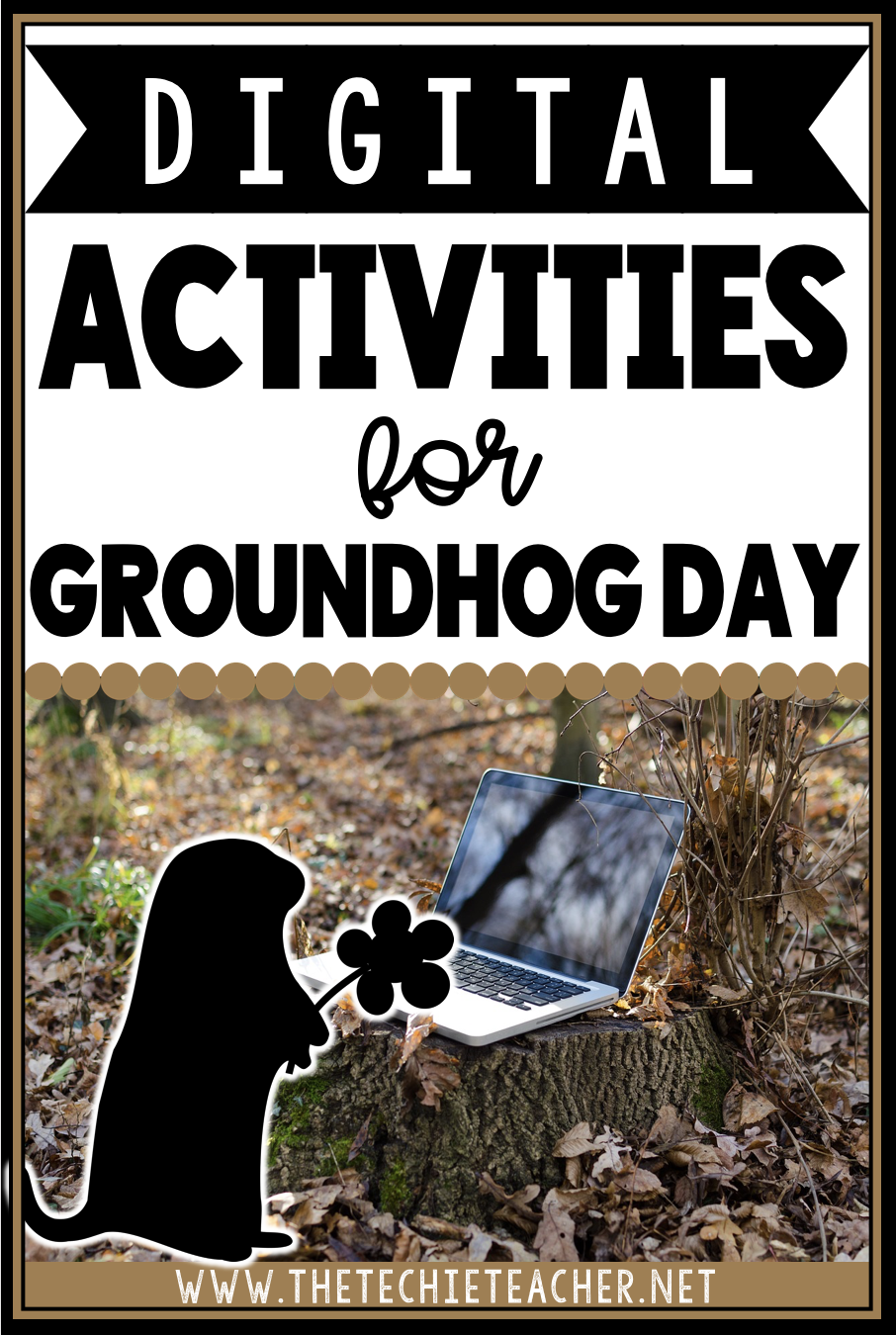 Digital Activities for Groundhog Day: A livestream webcam and educational resources that can be use on Chromebooks, laptops, computers and iPads can be found in this post!