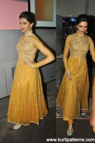 Dress no. 49 - Deepika in Yellow dress