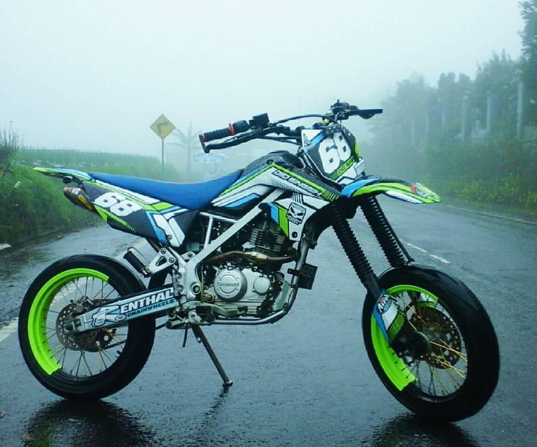 80 Foto Modifikasi Motor Trail Kawasaki Klx 150 Supermoto