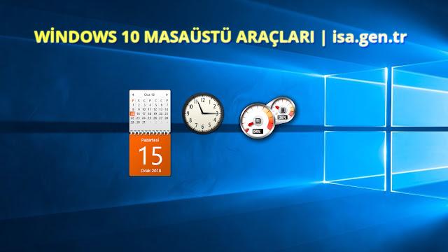 Windows 10 saat takvim araçları