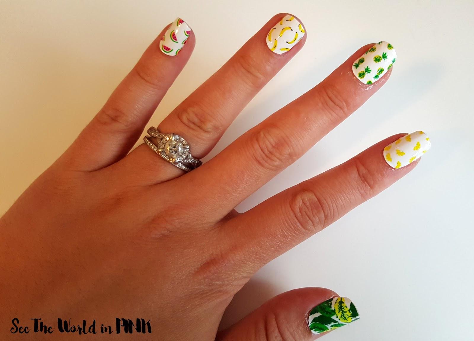 Manicure Monday - Scratch Nail Wraps & Fruit Basket