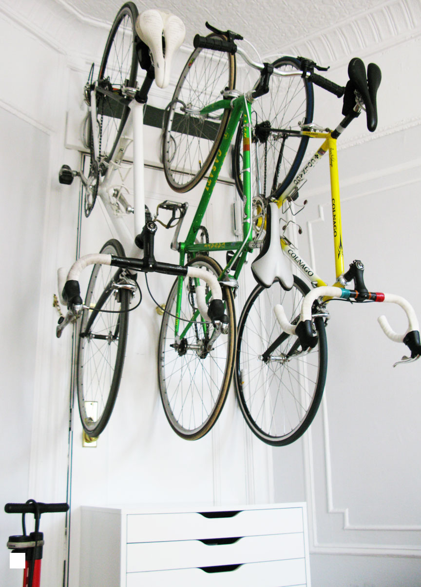 for the love of bikes: at home: bike storage using IKEA