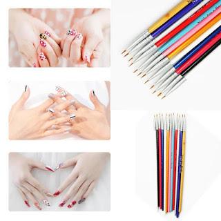 pinceles para decorar uñas