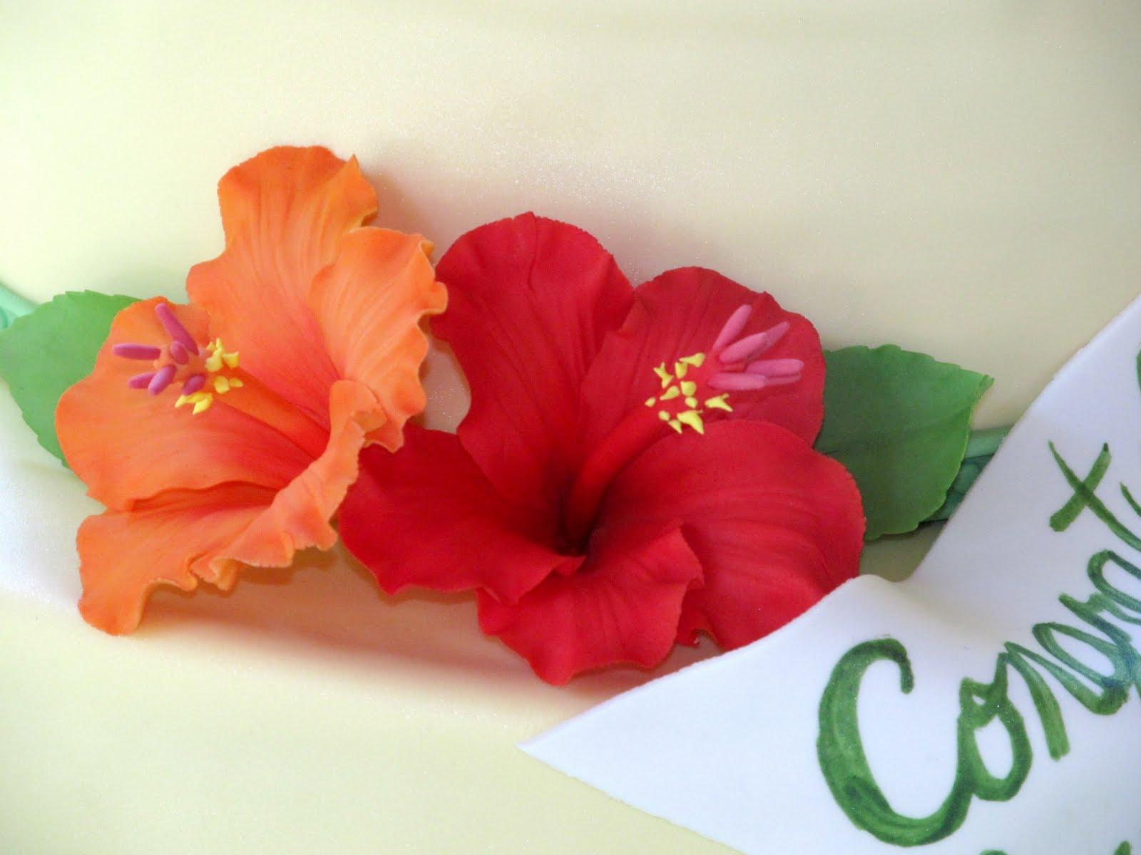 How To Make Hibiscus Flowers Out Of Fondant
