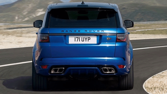 Range Rover Sport SVR Top Speed