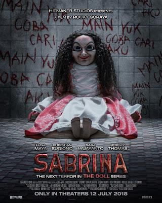 Poster Film Bergenre Horor Sabrina