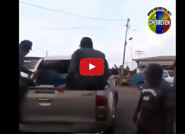 Militares bachaqueros de gasolina fueron botados por el pueblo