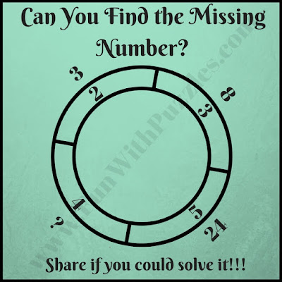 Tricky math double circle brain teaser
