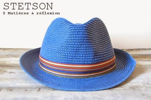 l 39 atelier mati res r flexion chapeau homme stetson trilby bleu pour cet t. Black Bedroom Furniture Sets. Home Design Ideas
