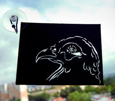 papierowa wycinana ozdoba ptak