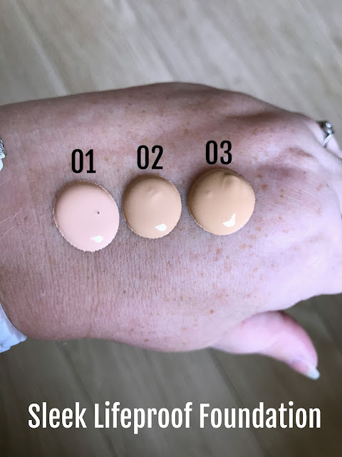 Sleek Lifeproof Foundation Swatches