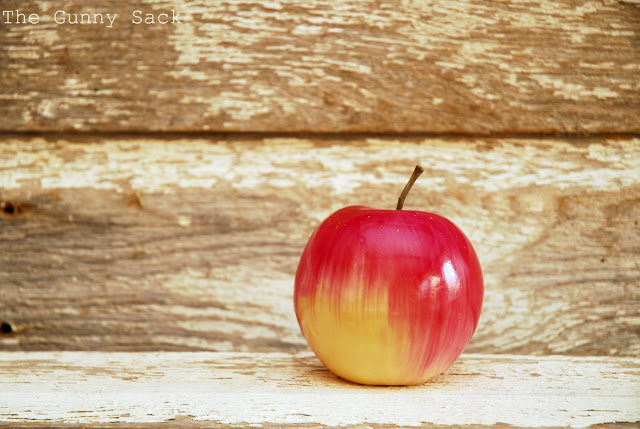 Apple With Barn Wood Background