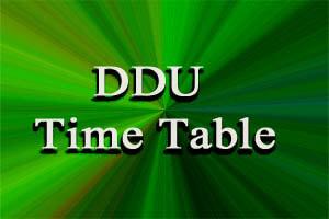 DDU Gorakhpur Exam Time Table