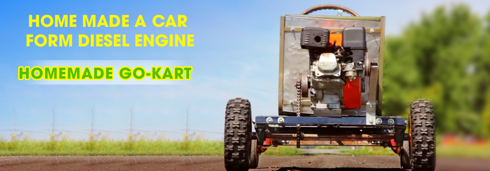 Crazy car go kart- How to make a car go kart very easy 2015