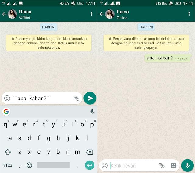 Membuat Tulisan Unik di WhatsApp