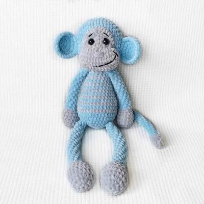 Плюшевая обезьянка крючком