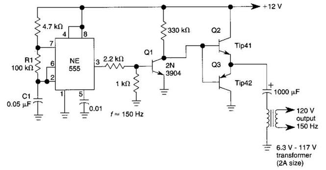 Electronic Components Blog Inverter 12v Dc To 120v Ac Circuit