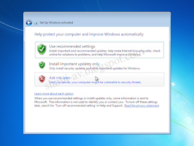 update windows cara install windows 7