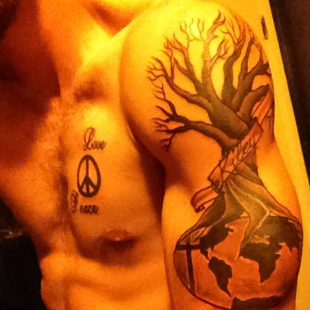 body earth tattoo