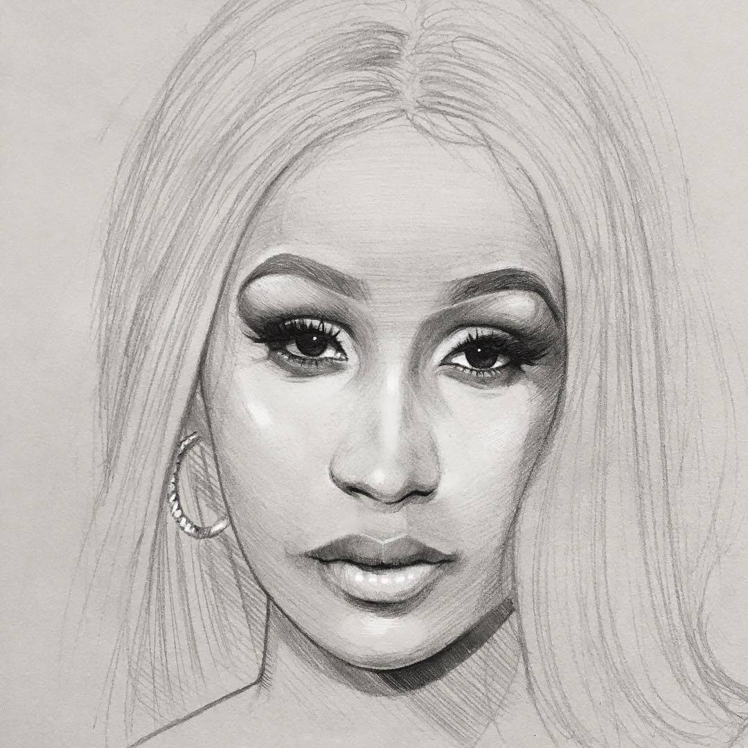 05-Cardi-B-Thomas-Letor-Wave-Like-Style-Minimalist-Pencil-Portraits-www-designstack-co
