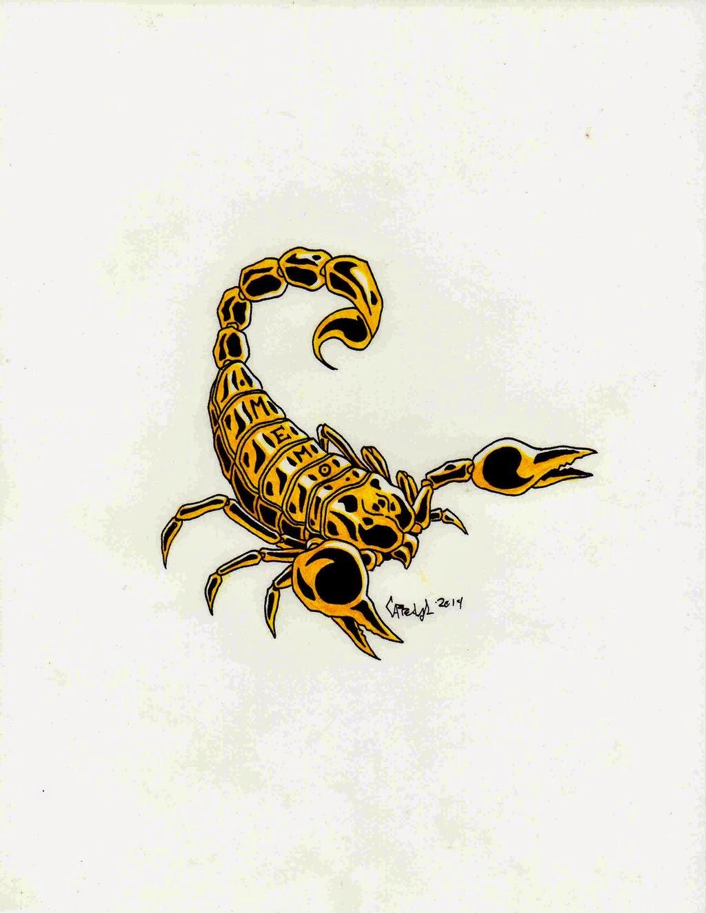"""Dibujo De Un Escorpion Dorado the scorpion """"dibujo/ilustración"""": escorpión de oro para"""