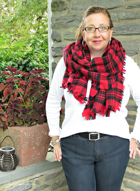Kate Spade Blanket Scarf styled for Fall
