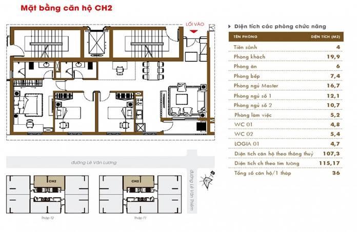 Thiết kế Chung cư Times tower HAcc1 Lê văn lương