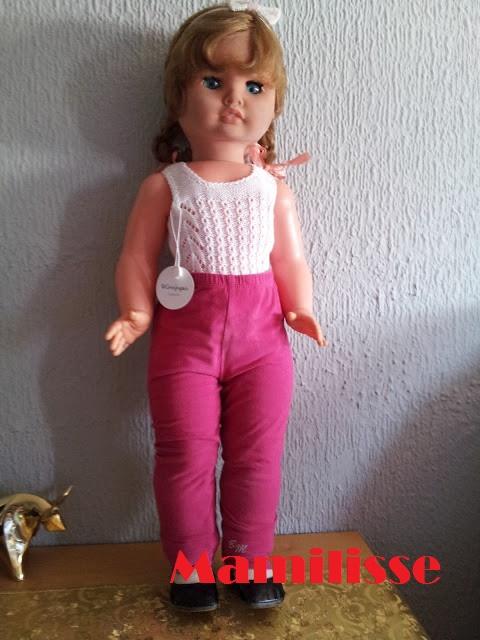 Muñeca Cristina con pantalones rosas