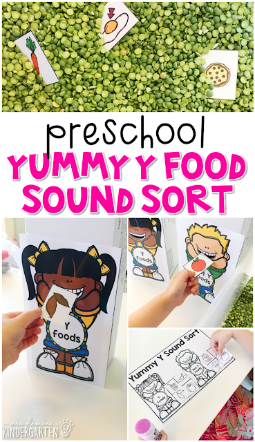 This yummy y foods sound sort is fun for letter sounds and fine motor practice with an all about you theme. Great for tot school, preschool, or even kindergarten!