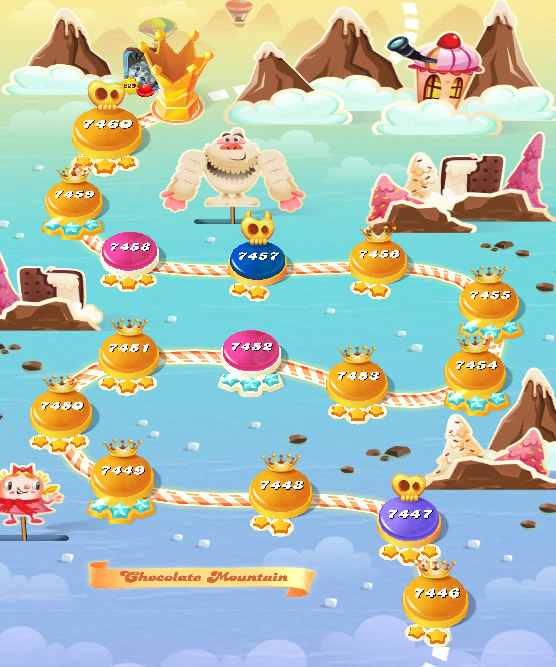 Candy Crush Saga level 7446-7460