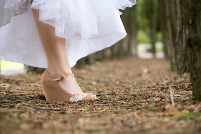 bridal wedding on vogue: Outdoor Wedding Shoes for Grass